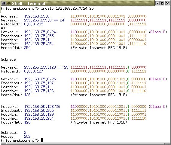 IP Calculator / IP Subnetting